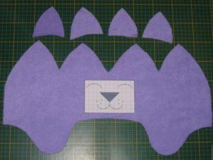 Выкройка детской шапочки с ушками