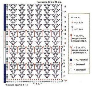 Схема для вязания крючком 4