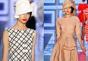 шляпа клош с платьем