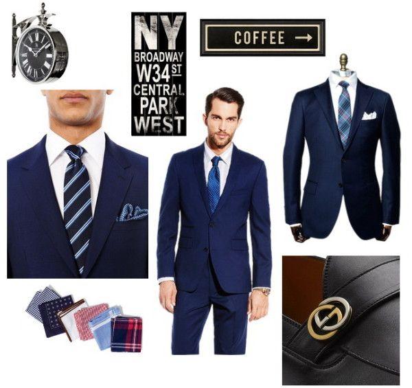 галстук к белой рубашке и синему костюму
