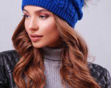синяя шапка с чем носить