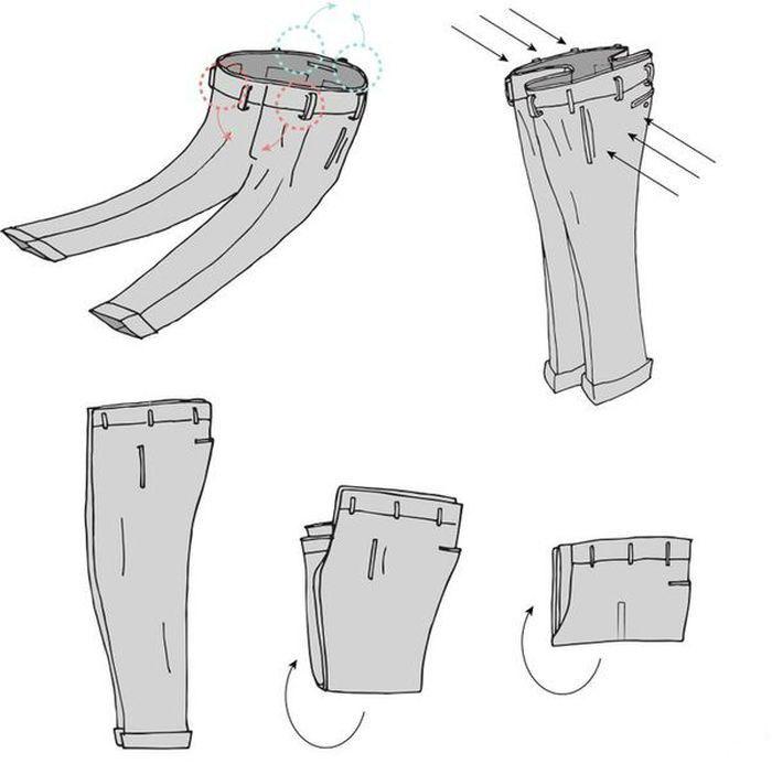 складываем брюки