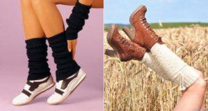 Сочетания обуви под гетры