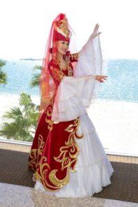 свадебный казахский костюм