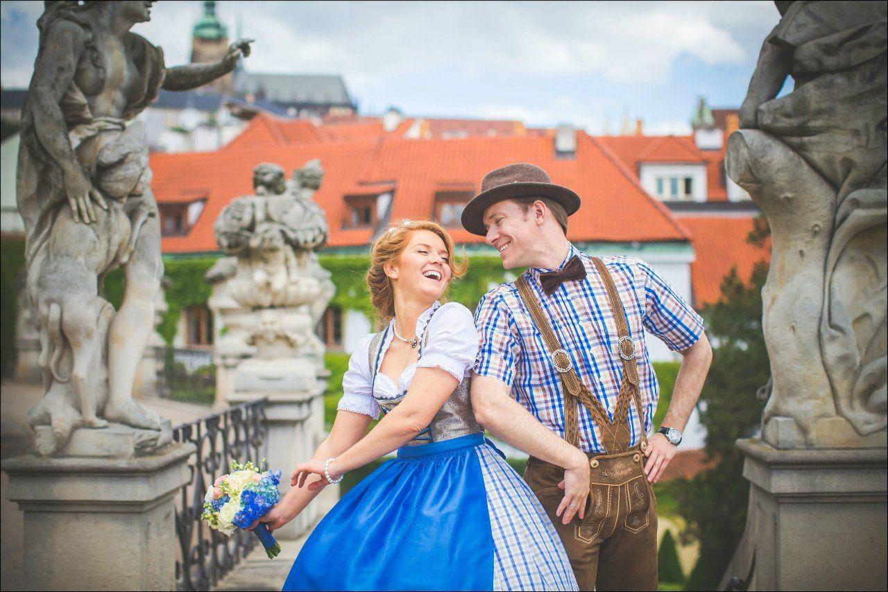 немецкий свадебный национальный костюм