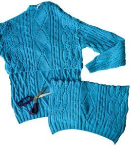 свитер для пошива носков