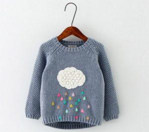 свитер с удлиненной спинкой