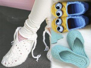Разные тапочки носочки
