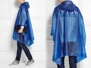 Синий плащ-дождевик
