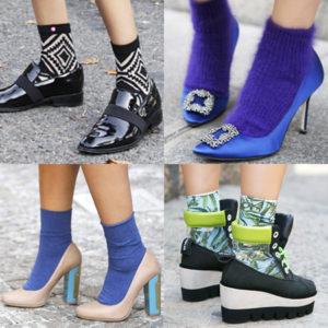 цветные носки под обувь