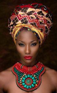 тюрбан в африканском стиле