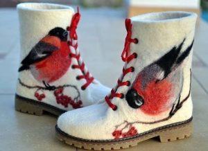 Валенки в форме ботинок