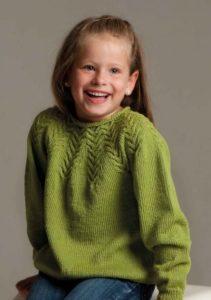 Зелёный свитшот для девочки