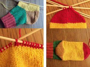 Этапы вязания носка