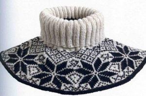 Манишка с зимним орнаментом