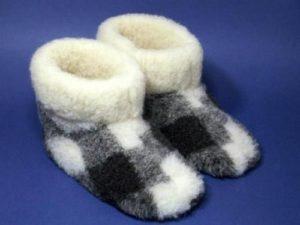Детские угги из теплой ткани