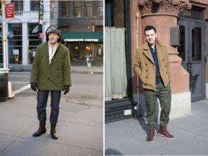 высокие ботинки и куртка