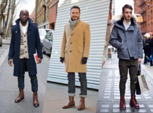 высокие ботинки с подвёрнутыми джинсами