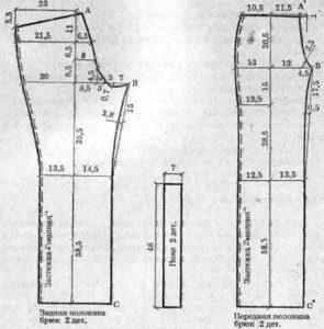 задняя и передняя часть брюк 8