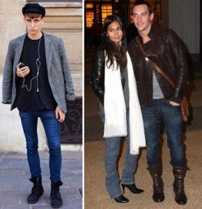 заправленные джинсы в ботинки