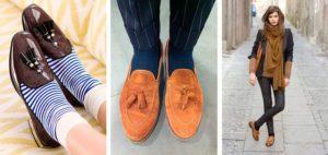 носки с разными моделями обуви