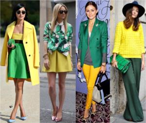 жёлтый с зелёным