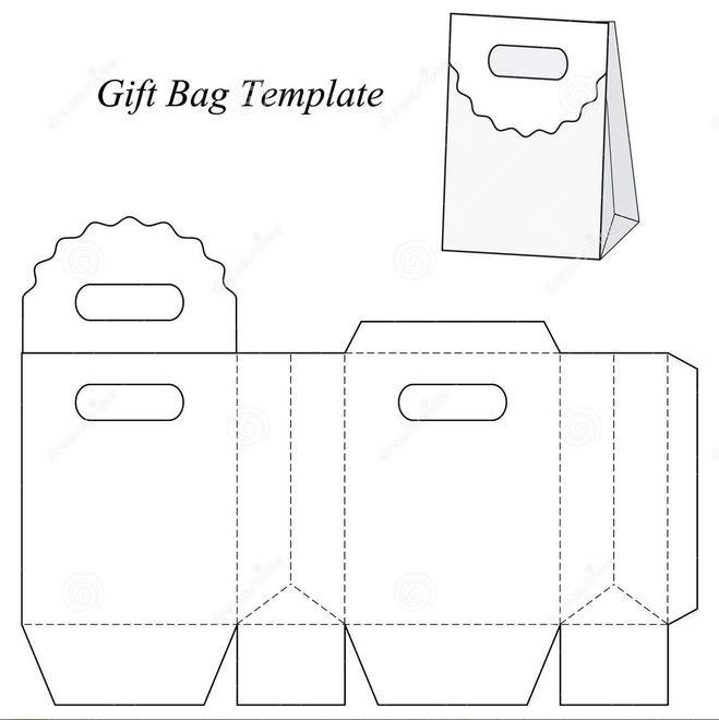 шаблон подарочной сумки