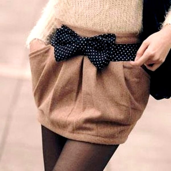 юбка из пальто