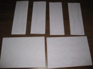 Нарисовать на плотном картоне изображение костей
