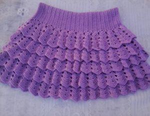 ажурная юбка спицами для девочки
