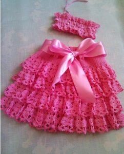 ажурная юбка с декором