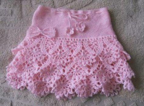 Розовая юбка с ажуром