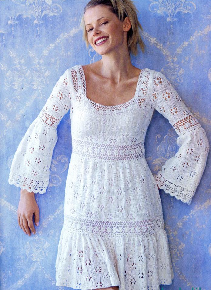 Ажурное платье модель 1
