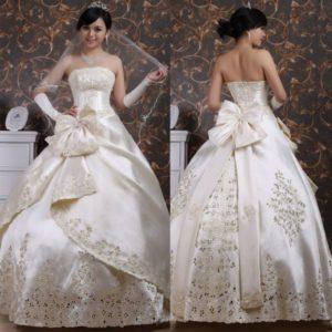 Бант на свадебное платье