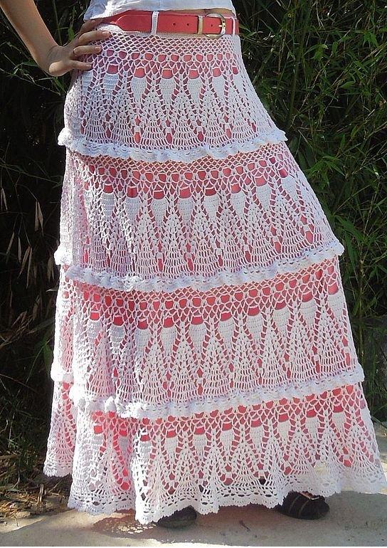 Белая юбка длинная