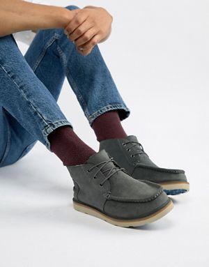 Ботинки серые чукка