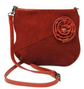 яркая замшевая сумочка