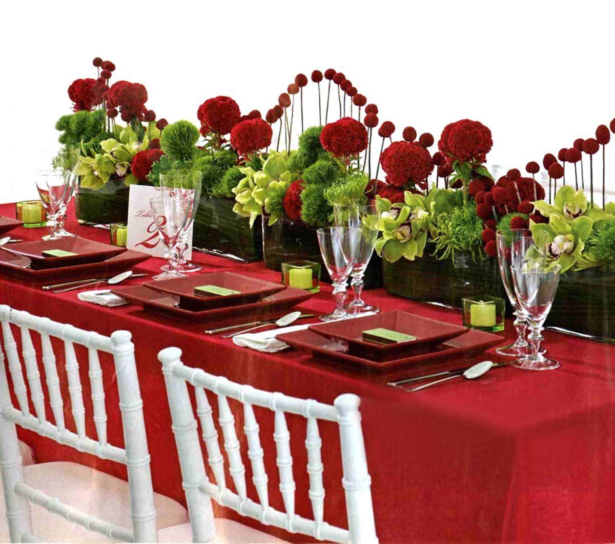Красная скатерть на свадьбу праздник