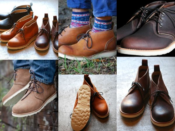 Цветовая гамма ботинок чукка