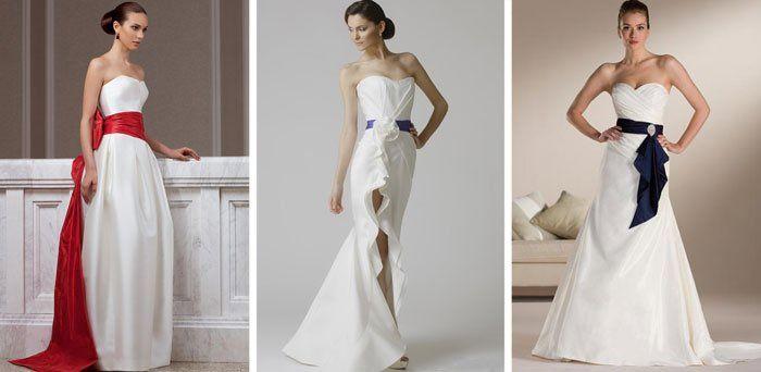 Виды поясов на свадебном платье