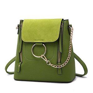 зеленые сумка из полиуретана