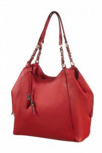 красная сумка из полиуретана