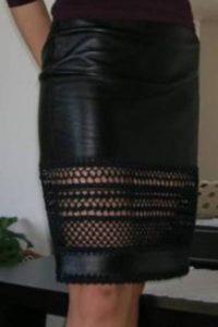 Делаем вставки в середине юбки
