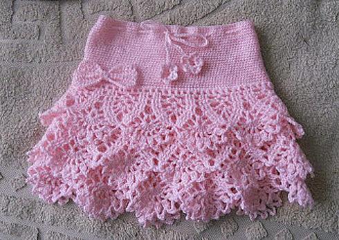 Детская розовая юбка 1