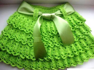 Детская зеленая юбка 2