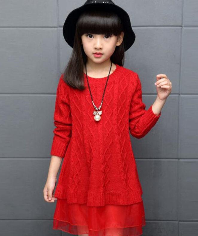 Детское платье свитер