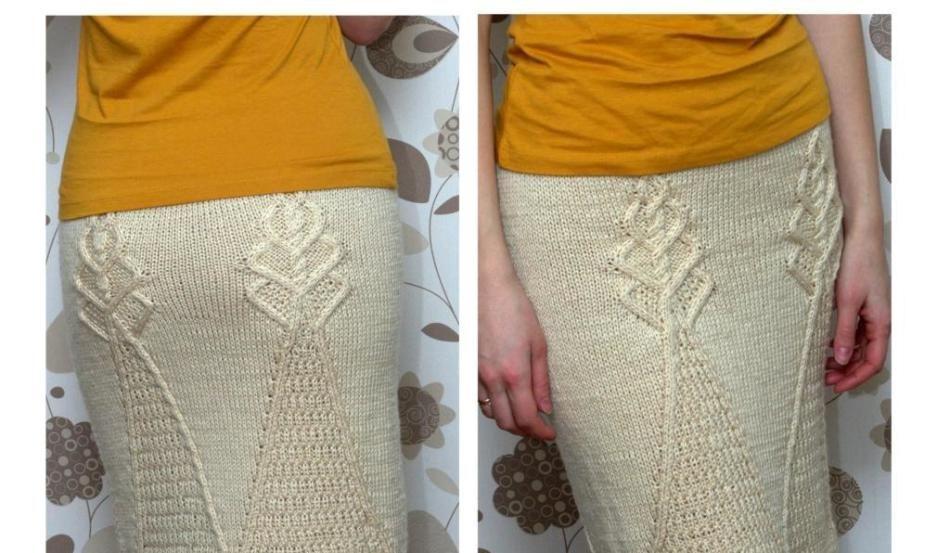 Длинная юбка белая