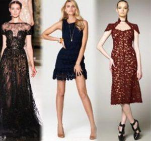 модели и фасоны платьев из гипюра