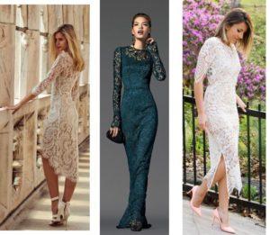 варианты гипюровых платьев