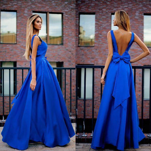 Бант на платье сзади